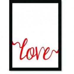 Quadro Poster Frases Love