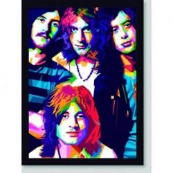 Quadro Poster Musica Led Zeppelin Color