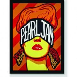 Quadro Poster Musica Pearl Jam Poster Milwaukee
