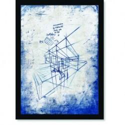 Quadro Poster Arquitetura Esboço 1