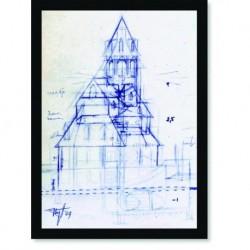 Quadro Poster Arquitetura Esboço 2