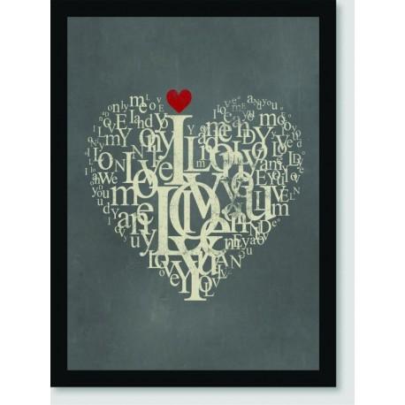 Quadro Poster Pop Art Love Love