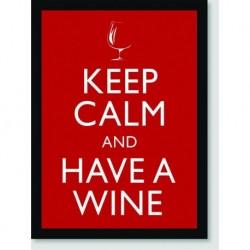 Quadro Poster Pop Art Keep Calm Wine