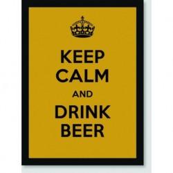 Quadro Poster Pop Art Keep Calm Beer