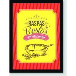 Quadro Poster Pop Art Raspas E Restos
