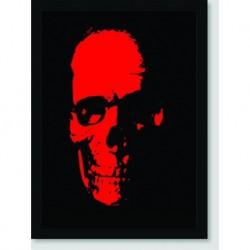 Quadro Poster Pop Art Red Skull