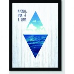 Quadro Poster Pop Art Aponta Para A Fe