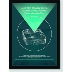 Quadro Poster Pop Art Planeta Terra Chamando