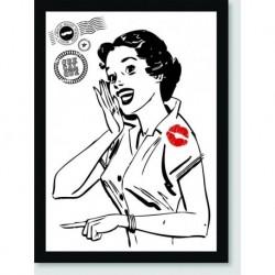Quadro Poster Pop Art Beijinho No Ombro