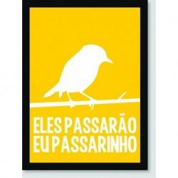 Quadro Poster Pop Art Eu Passarinho