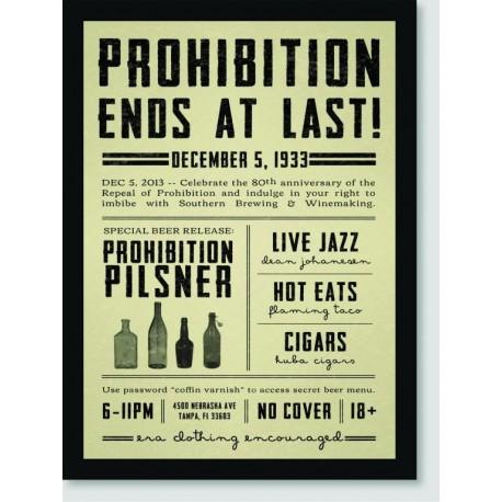 Quadro Poster Pop Art Prohibition Ends At Last