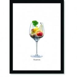 Quadro Poster Vinhos e Sabores Auxerois