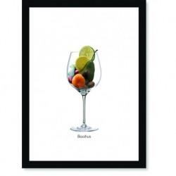Quadro Poster Vinhos e Sabores Bacchus
