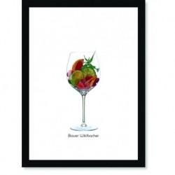 Quadro Poster Vinhos e Sabores Blauer Wildbacher