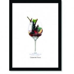 Quadro Poster Vinhos e Sabores Cabernet Franc