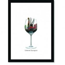 Quadro Poster Vinhos e Sabores Cabernet Sauvignon