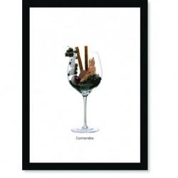 Quadro Poster Vinhos e Sabores Carmenere