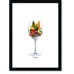 Quadro Poster Vinhos e Sabores Cortese