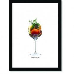 Quadro Poster Vinhos e Sabores Goldburger