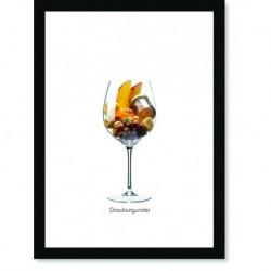 Quadro Poster Vinhos e Sabores Grauburgunder