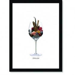 Quadro Poster Vinhos e Sabores Zinfandel