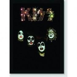 Quadro Poster Kiss Black