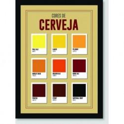 Quadro Poster Bebidas Cores de Cerveja