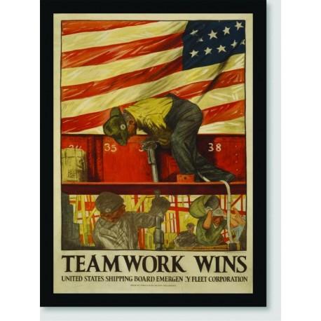 Quadro Poster Guerra Team Works Wins