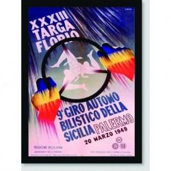Quadro Poster Carros XXXIII Targa Florio