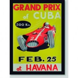 Quadro Poster Carros Grand Prix Cuba