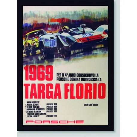 Quadro Poster Carros Targa Florio 1969