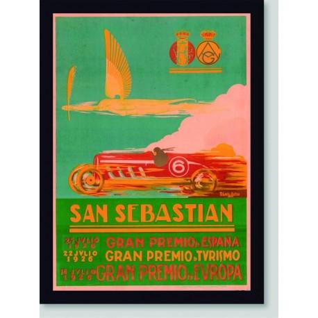 Quadro Poster Carros San Sebastian 1926