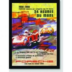Quadro Poster Carros Le Mans 1950-1956