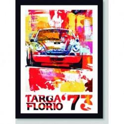 Quadro Poster Carros Targa Florio 1973