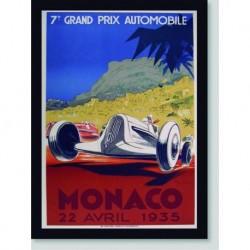 Quadro Poster Carros Grand Prix Monaco 1935