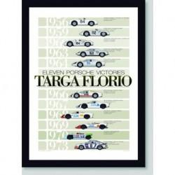 Quadro Poster Carros Targa Florio 1956-1973