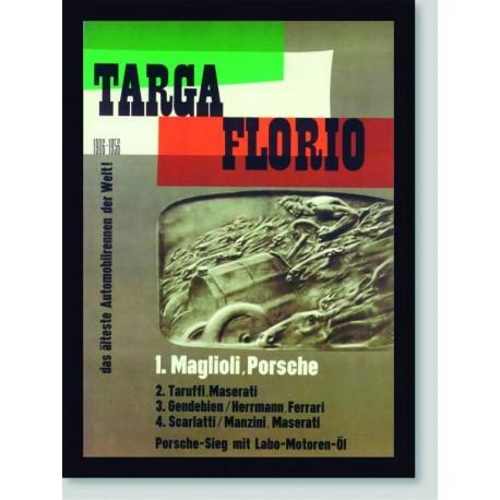 Quadro Poster Carros Targa Florio 1906-1956