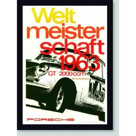 Quadro Poster Carros Porsche 1963