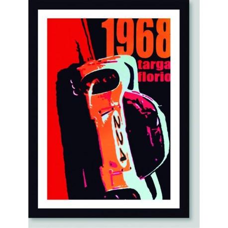 Quadro Poster Carros Targa Florio 1968