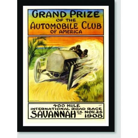Quadro Poster Carros Savanna 1908