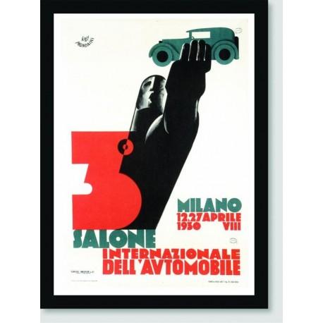 Quadro Poster Carros Salone Milano
