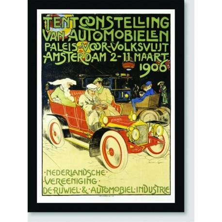 Quadro Poster Carros Amsterdam 1906