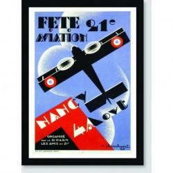 Quadro Poster Carros Fete Aviation