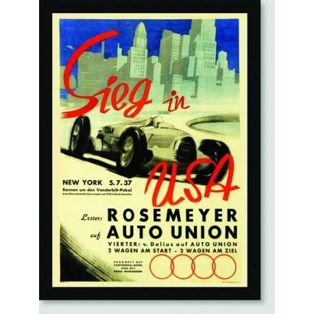 Quadro Poster Carros Sieg In Usa