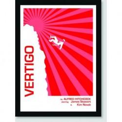 Quadro Poster Filme Vertigo Red
