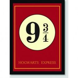 Quadro Poster Filme Harry Potter Hogwaarts Express