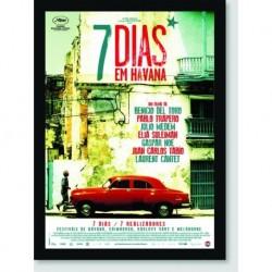 Quadro Poster Filme 7 Dias Em Havana