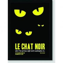 Quadro Poster Filme Le Chat Noir