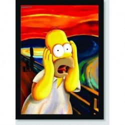 Quadro Poster Filme Simpsons Pintura