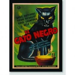 Quadro Poster Filme El Gato Negro